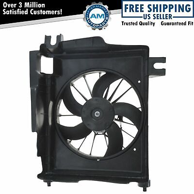 Radiator A/C AC Condenser Cooling Fan & Motor NEW for Dodge Ram Pickup Truck