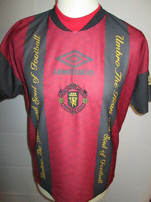 Manchester United 1990's Training Football Shirt Size Youths