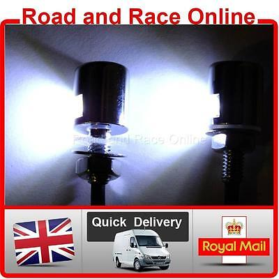 Small Black 12v LED Number Plate Lights Universal Fitting Suit Most Motorcycles