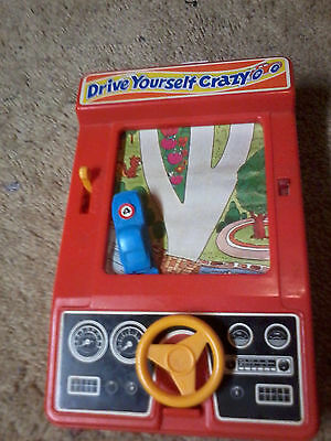 Vintage 1976 TOMY DRIVE YOURSELF CRAZY. Battery Operated CAR GAME – Not Working