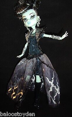 NEW Monster High Ghouls Rule FRANKIE STEIN COSTUME / DRESS ONLY loose ooak