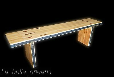 Vintage Industrial Pair Of Bowling Alley Benches. 6 Ft Long!!