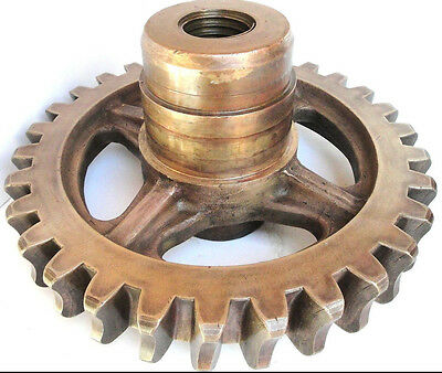 Large Brass 30 Tooth Worm Gear 201586A2A with Acme Center