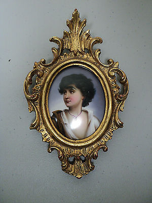 """Famous 19Th C. Portrait Painting Of """"young Neopolitan Boy"""", Gilt Wood Frame"""
