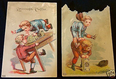 Levering's Coffee antique advertising trade cards 33 38 of set E. Levering & Co.