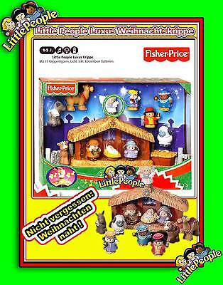 LITTLE PEOPLE KRIPPE Weihnachtskrippe FISHER PRICE christmas nativity playset