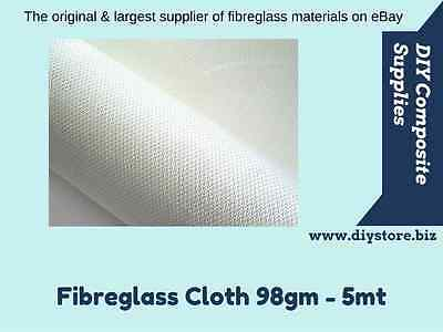 5mt x 98gm-150gm Fibreglass Cloth 1mtr. wide - (FREE FREIGHT) For EPOXY & Poly