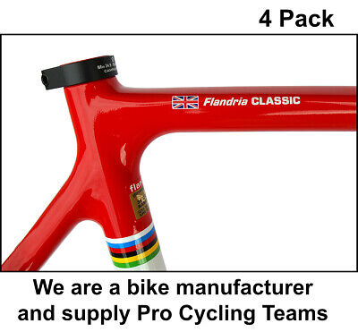 4x Personalised Frame Name Road Cycle Cycling Bike Frame Stickers / Decals