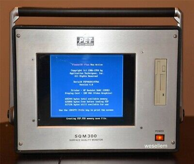 PET Photo Emission Tech SQM300 Surface Quality Monitor NDT NCT SQM 300