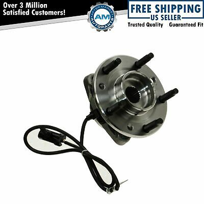 TRQ Front Wheel Hub & Bearing for Chevy Blazer S10 GMC Jimmy 4WD 4x4 AWD w/ ABS