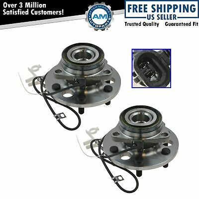 Front Wheel Hub & Bearing Pair Set for Chevy K1500 Pickup Tahoe w/ABS 4WD 4x4