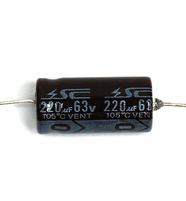 SC Brand NPT-5 Each .47-220uF 63V Axial Electrolytic NP Capacitors 9 Values