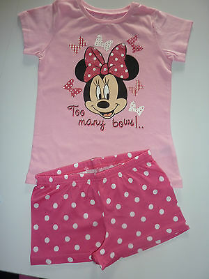 """DISNEY Really Cute Minnie Mouse """"Too Many Bows!"""" PJ's NEW"""