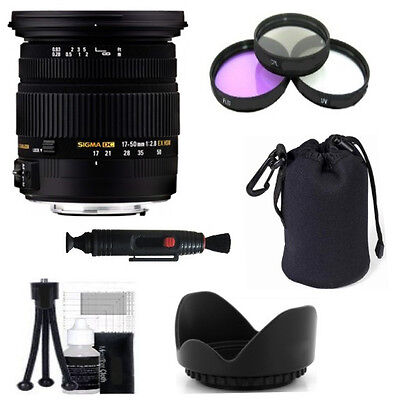 Sigma 17-50mm f/2.8 EX DC OS HSM Zoom Lens for Nikon + Deluxe Accessory Kit
