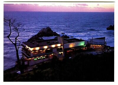 1970s SAN FRANCISCO CLIFF HOUSE ILLUMINATED at NIGHT~MINT GLOSSY COLOR POSTCARD