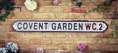 Vintage Wood LONDON street road sign, COVENT GARDEN WC2