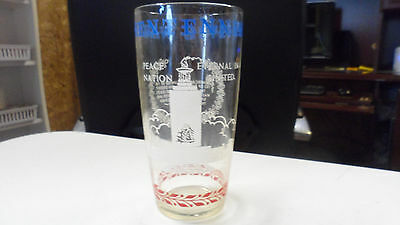VINTAGE CIVIL WAR CENTENNIAL GLASS NATIONAL MONUMENTBATTLEFIELDS OF GETTYSBURG