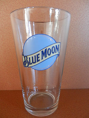 Blue Moon Belgian White Witbier Coors Brewing Pint Beer Glass NEW