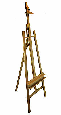 2670mm HIGH Studio Easel for paintings Display Artist Art Craft- Beech WOOD
