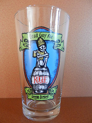 Rogue Dead Guy Ale Heller Bock Pint Beer Glass NEW Newport Oregon