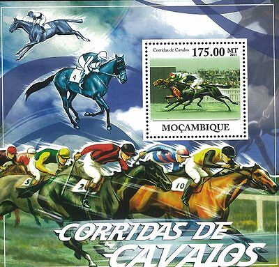 Mozambique 2011 Stamp, MOZ11626B Horse Racing , S/S