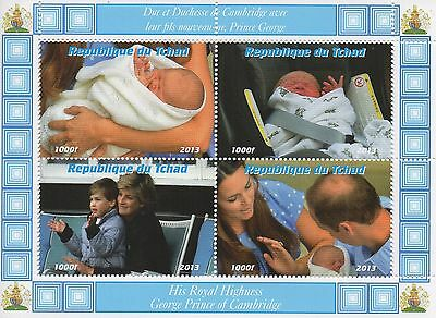 ROYAL BABY PRINCE GEORGE KATE AND WILLIAM LADY DIANA MNH STAMP SHEETLET