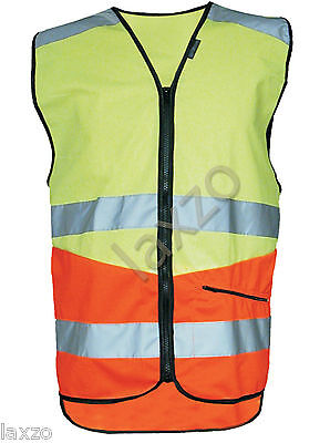 Nitezone RCN904 Hi-Vis Orange Yellow Reflective Cycling Vest Lightweight Bicycle