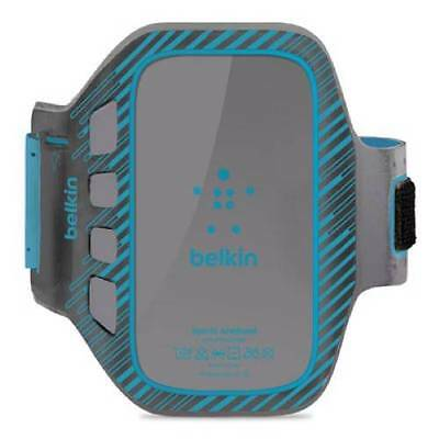 New Belkin Slim-Fit Sport Armband Case For Samsung Galaxy S3 Gray And Blue