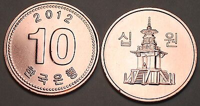 2012 South Korea 10 Won Coin BU Very Nice  KM# 103