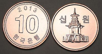 2013 South Korea 10 Won Coin BU Very Nice  KM# 103
