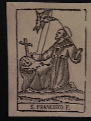 Rara San Francesco Assisi incisione originale 1800 Sanctus Franciscus Francisco