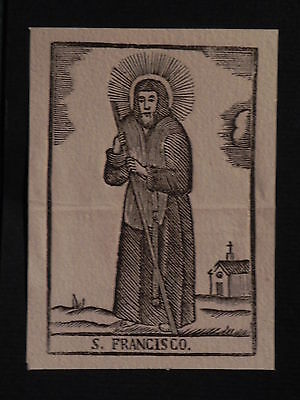Rara San Francesco Paola incisione originale 1800 Sanctus Franciscus Calabria