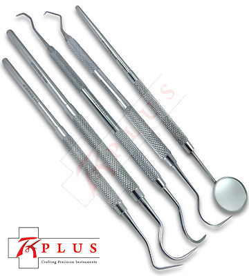 Dental Kit Tooth Cleaning Tools, Sickle Scaler, Probe, Explorer, Mirror Handle