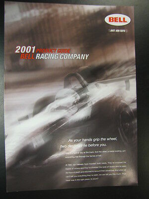 Brochure BELL Racing (car) helmets 2001 (Engels)