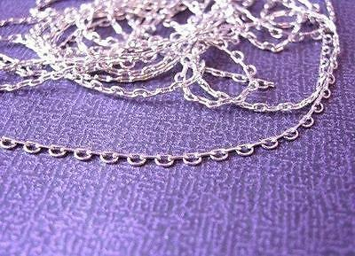 5 feet antique silver look brass 3x3mm link chain(nickel free)-1544