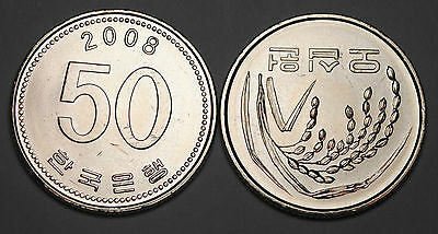 2008 South Korea 50 Won Coin BU Very Nice  KM# 34