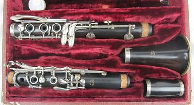 Rare F Loree Bb Clarinet Grenadilla wood made in Paris Beautiful Instrument