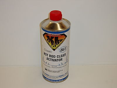 EXCEL Hot Rod Clear Coat ACTIVATOR (861) for flat clear coat - Quart