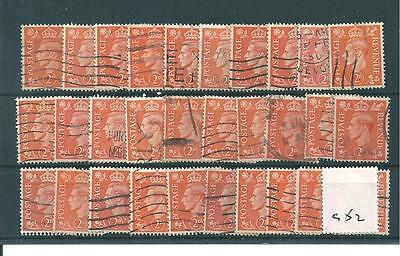 GB - GEORGE V1 - 1941 DEFINITIVES - PALE COLOURS -G697-  2d x 30 - USED