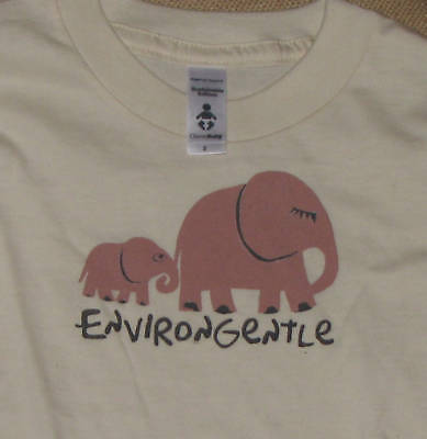 ORGANIC COTTON Toddler Baby sizes T-shirt Elephant ENVIRONGENTLE elephants USA