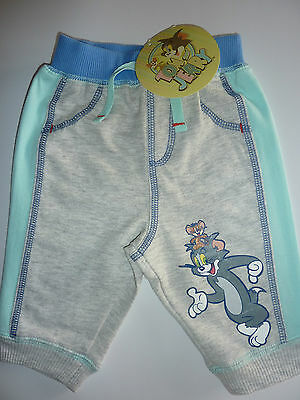 TOM AND JERRY Cute Little Grey and Blue Trackie Bottoms NWT