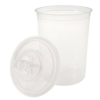 3M PPS Disposable Paint Cups Kit 16024 - 25 Lids, 25 Liners, 10 Sealing Plugs