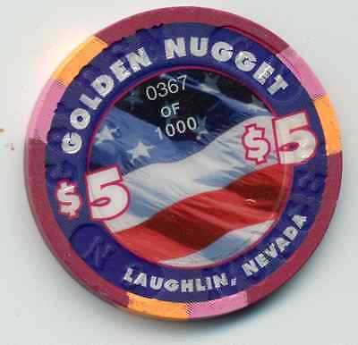 Golden Nugget 2003 July 4Th  Laughlin  Casino $5 Chip
