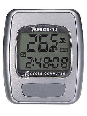 Union 10 Function Bike Bicycle Computer Wired Easy Installment