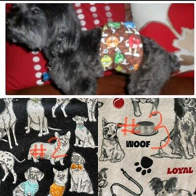 Sir Crazy Cookie's Male dog diaper/belly bands / WIDE VELCR / BUY 2 GET 1 FREE