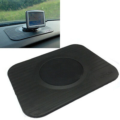 Car Sat Nav Gps Rubber Dash Board Mount Holder Mat Non Slip Genius Slim Portable