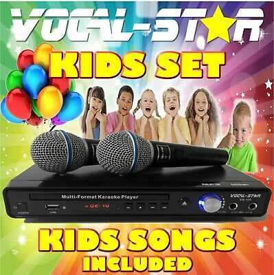 Vocal-Star 600 Kids Set Cdg Dvd Karaoke Machine Player 2 Microphones 150 Songs