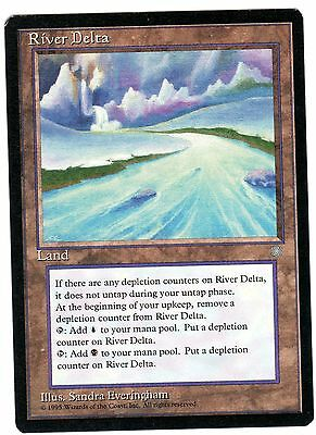 River Delta 1x carte Magic ENGLISH Ice Age (Damage Dual Lands)