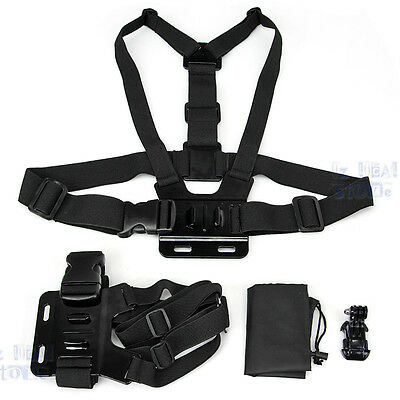 Chest Harness Mount + J Hook for GoPro HD Hero 2 3 3+ 4 Plus Strap Camera Go Pro