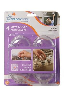 New Dreambaby Stove Oven Knob Covers 4 Pack Baby Toddler Safety Dream Baby